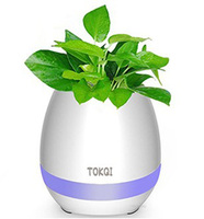 New bluetooth speaker intelligent music creative touch induction flower pot