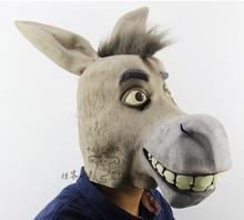 New Funny Latex Donkey head mask for Halloween animal party