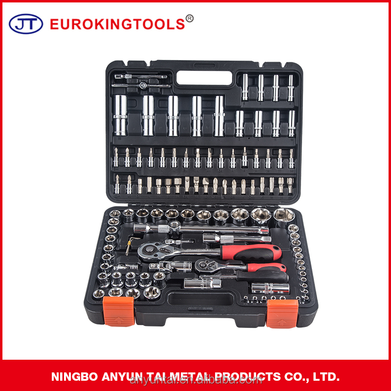 "108pcs Automotive Tool Hand Wrench Tool 1/4"" and 1/2"" Socket Set"