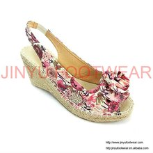 2011 popular floral wedge shoes