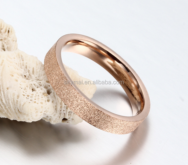 Women Stainless Stee Gold Color Ring,Engagement Wedding Party Ring Jewelry