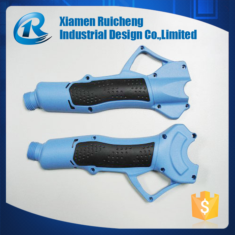 Blue over molding process plastic and silicone rubber parts