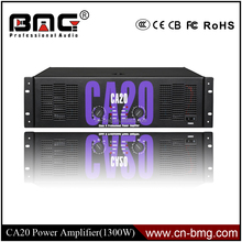 BMG Professional Sound Standard CA 20 Power Amplifier 1300 Watts x/ CA20 Crest Audio Power Amplifier