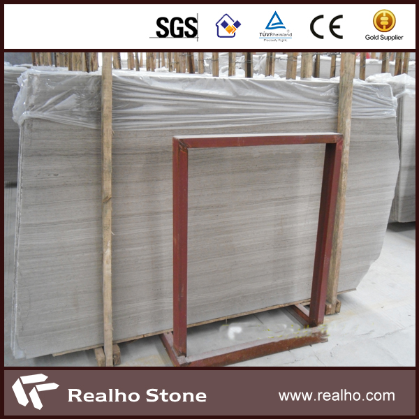 Own Quarry White And Gray Veins Wooden Marble Slab Price For Floor Wall Decoration