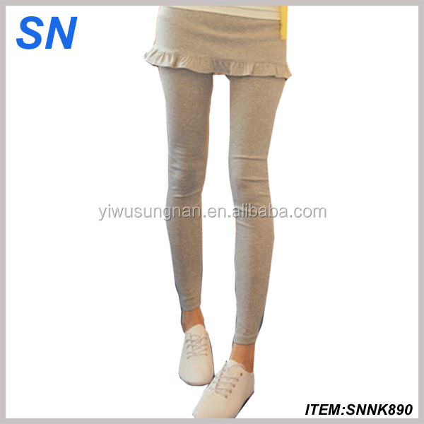2017 new fashion soft women tights polyester leggings with skirt