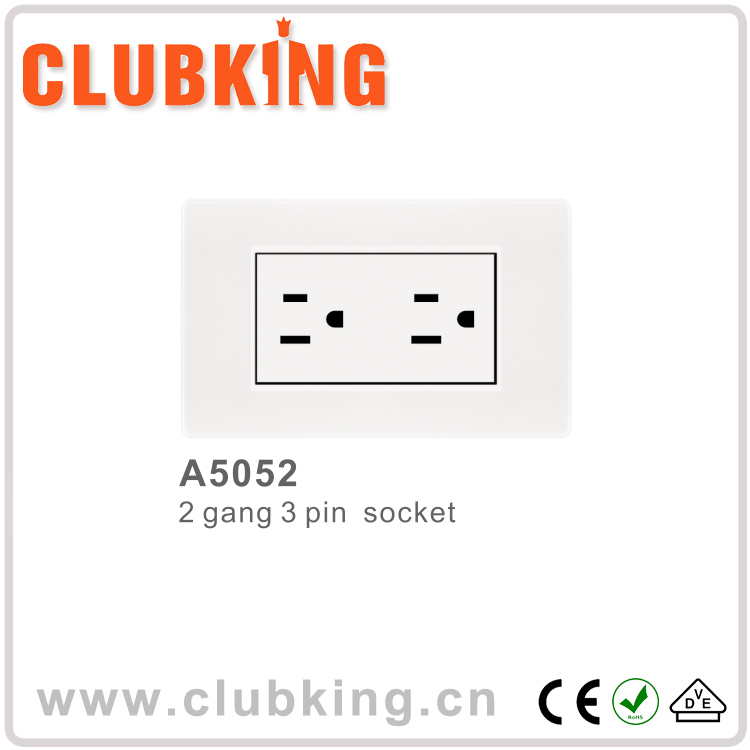 Hot Sale european socket 15 amp switched socket power cube soc socket