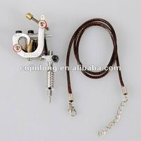 Silver color mini tattoo machine with necklace&tattoo accessoriess&toy tattoo machine on sale.JL-290F