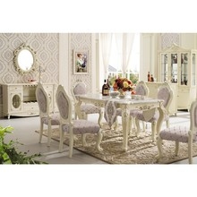 Luxury solid wood pictures of extendable marble top 6 seater dining table set designs in india