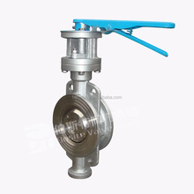 Sanitary Stainless Steel Manual/Pneumatic Operated 304 316L sandwich Butterfly Valve 2 inch