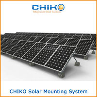 Portable flat roof solar panel mounting system