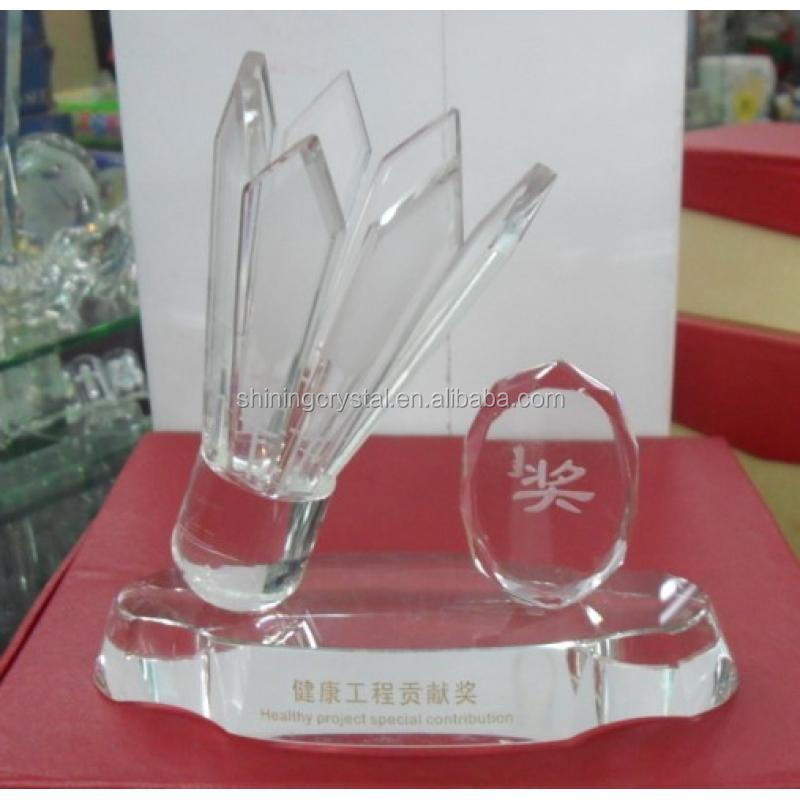 high quality customized crystal trophy for souvenirs gifts