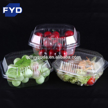 Disposable PET material plastic packaging fruit cake food trays