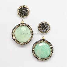 LS-D6046 NEW style !! Crystal Paved Clay Fashion Rhinestone Amazon Earrings
