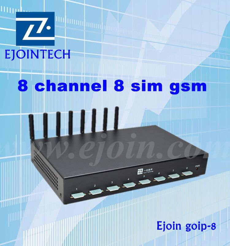 ejoin 8 ports wcdma 3g voip gateway for happy call with sms sending
