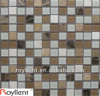 metallic glass mosaic tile