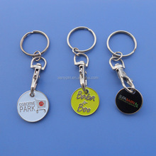 One Pound British Coin Trolley Coin Token Keyring, UK Trolley Keychain