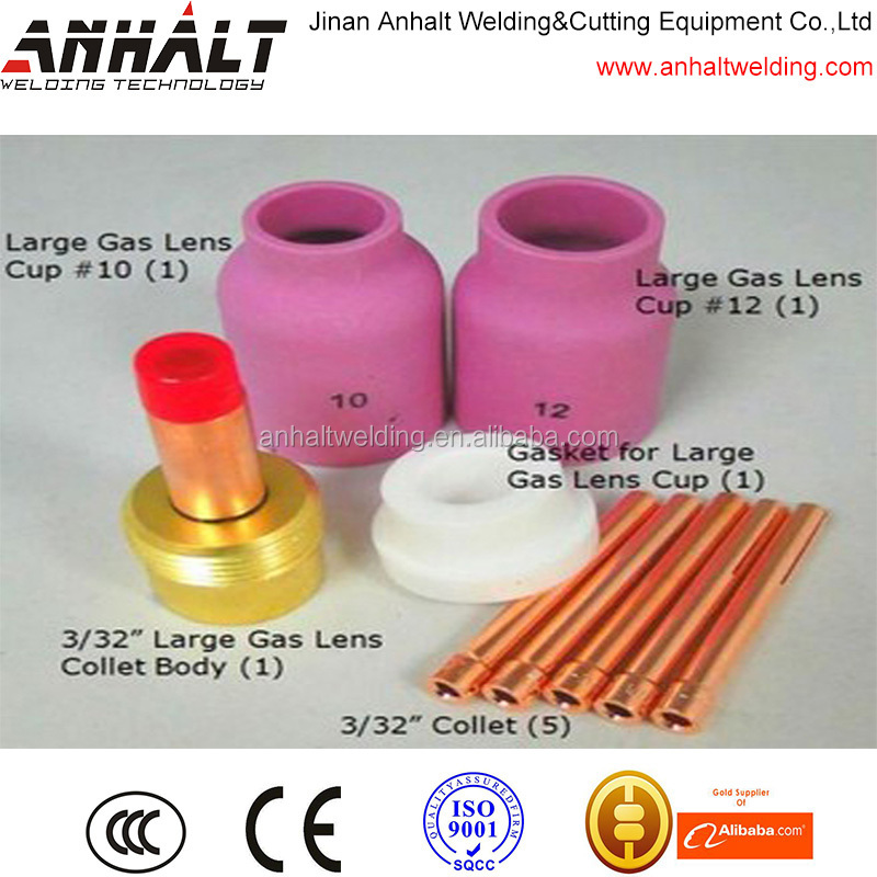 Anhalt WP17 WP18 WP26 Series TIG <strong>Welding</strong> Torch 1/8'' 3.2mm Large Gas Lens 9PK