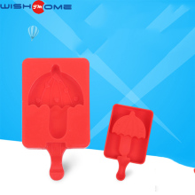 JianMei brand 2017 newest design pop FDA creative umbrella shape popsicle ice cream silicone molds