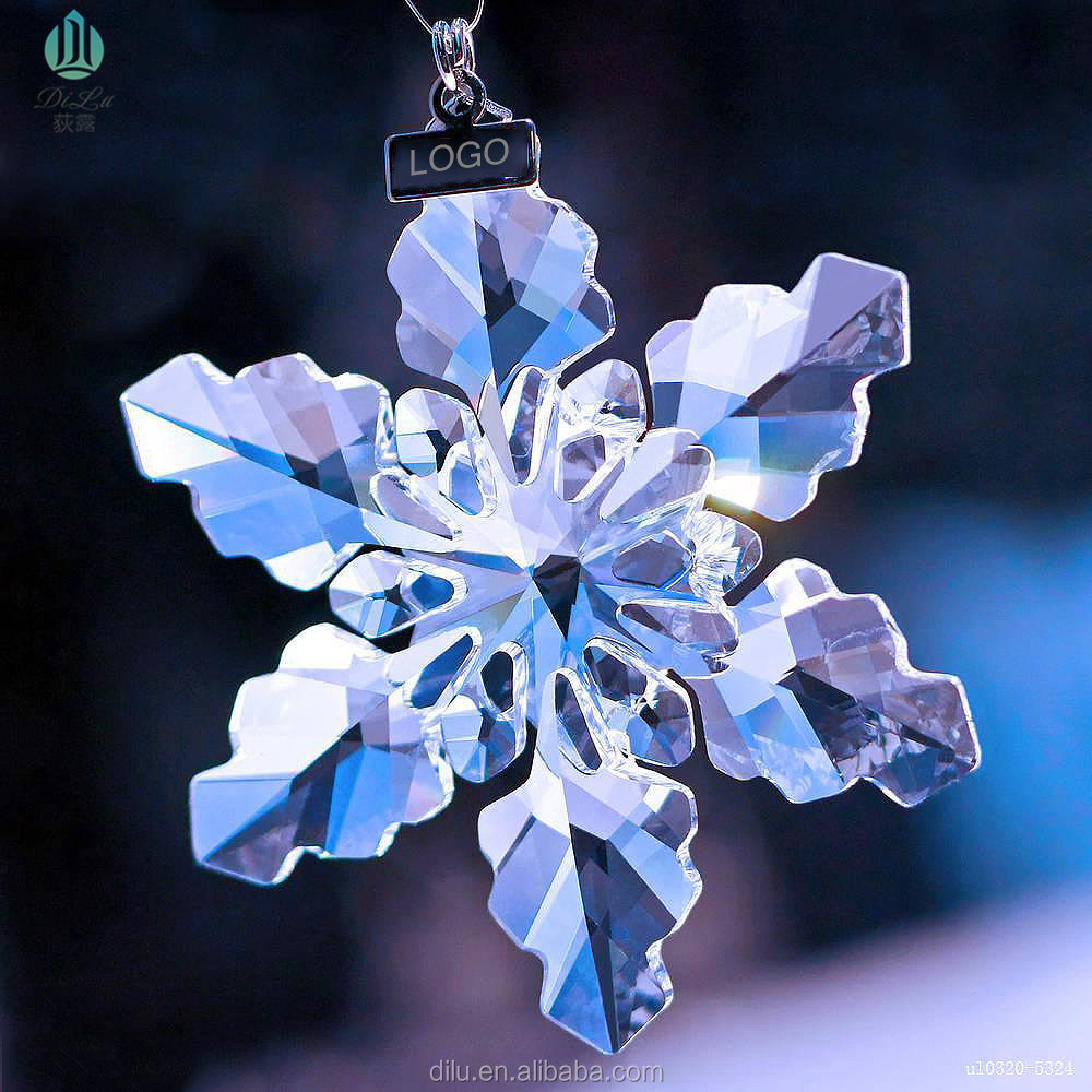 New design of crystal snow car pendant ornaments for <strong>Christmas</strong> present