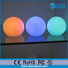 promotion gift 2017 rgb color changing D8cm PVC mini decorative led glowing orb