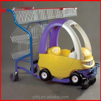 Supermarket Shopping Trolley Cart with Children Toy Car