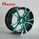 Jeep Car Wheels Forged Painting 5 Hole Forged Black And Green Rims For Sale