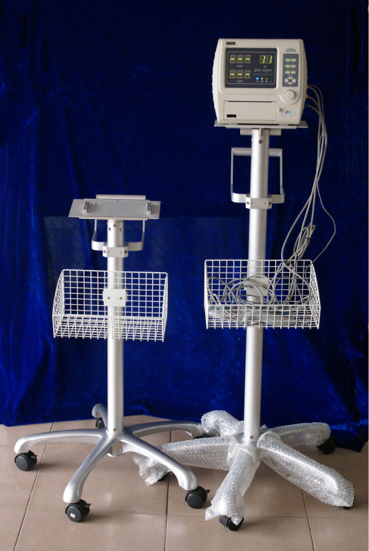 with trolley--obstetric monitor for baby and pregnant