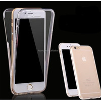 360 degree Full protective cover TPU back cover transparent bumper case for Apple iphone 7 6 6s 6s plus pro 5 S 4 SE A C