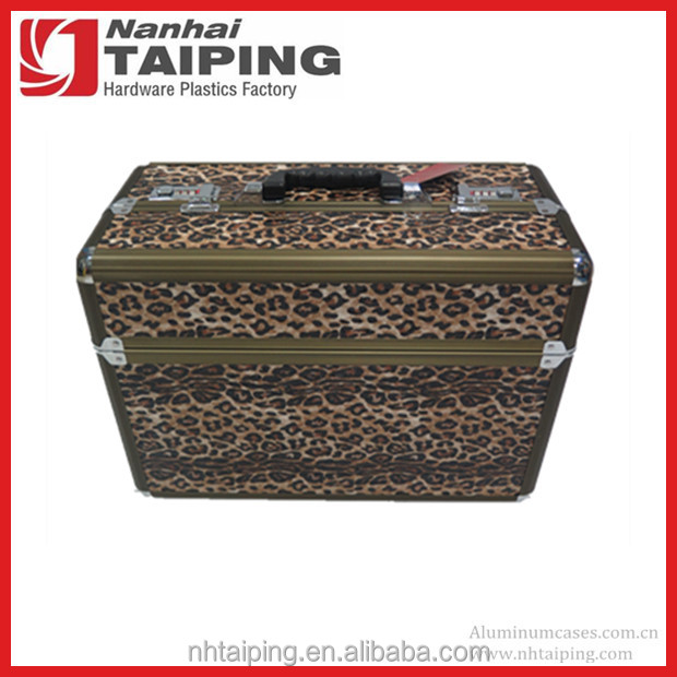 Leopard Style Laptop Briefcase For Ipad Carrying Case With Shoulder Strap