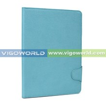 2014 NEW case for iPad Air 2 premium book folio cover for iPad Air 2 with stand work[baby blue]