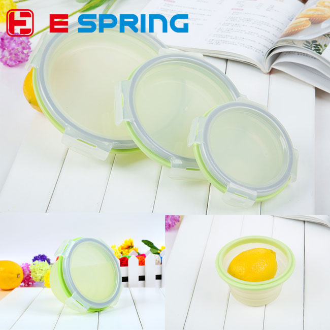 1 pcs Premium Food Storage Container Fresh Keeper Box Crisper 300ML 500ML 800ML Round Microwave Oven Box