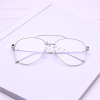 Wholesale Fashion Oversize Glasses Retro Gold Double Bridge Glasses Frame