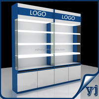 High quality MDF display cabinet wood show case for jewelry, cosmetics, phone accessories shop