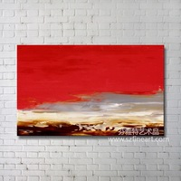 Sunrise Abstract Handmade Oil Painting
