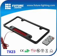 good quality hot sale 2015 factory direct sale 7x23 blue scrolling ir license plate frame