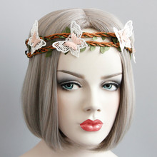MYLOVE MLFD83 holiday headwear fairy garland pink butterfly <strong>headband</strong>