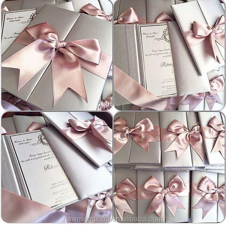 Pink Silver Wedding Invitations
