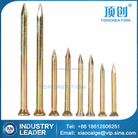 Plating color zinc concrete nails electroplating color zinc steel nail