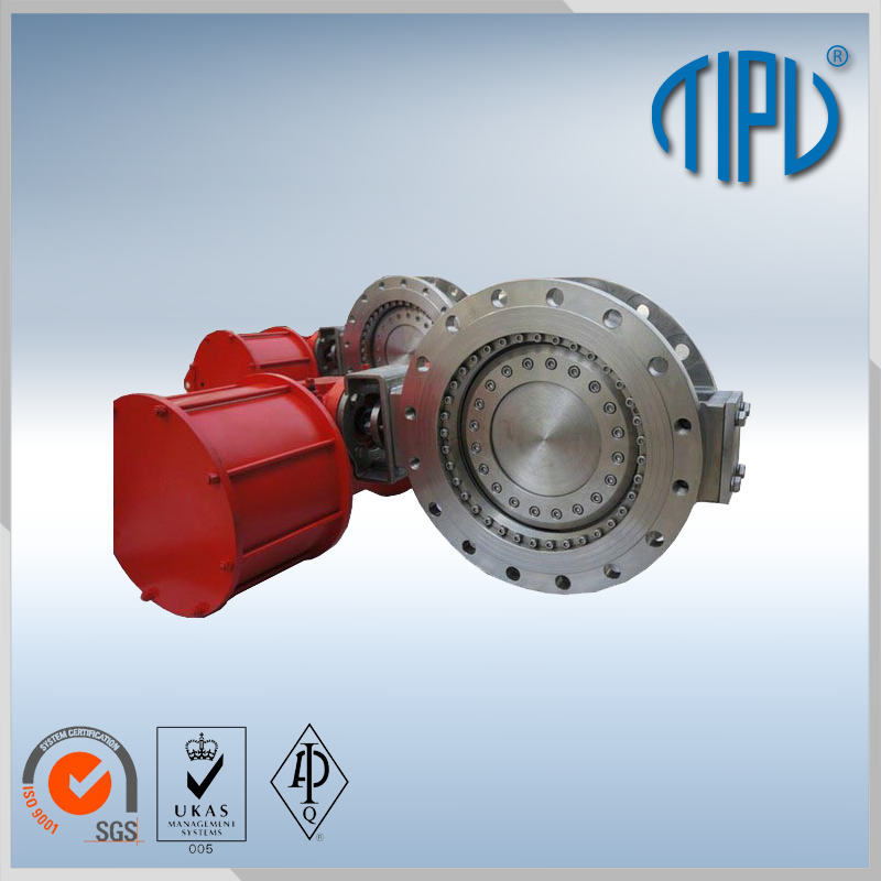 directional control hand brake butterfly valve for industrial use