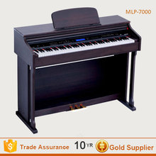Touch response digital 88 keys roll up piano