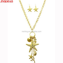 Starfish shell lobster seahorse clam sealife charm necklace