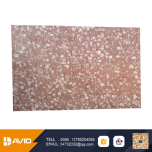 Hot selling polished decoration 10-shell pink marble stone flooring tile use for Hotel