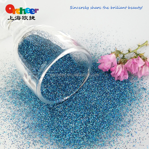 Holographic Laser Glitter Powder for nail, art decoration, TL407 sea blue color