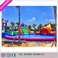 Inflatable water park, inflatable land water park for sale, inflatable water playground for kids