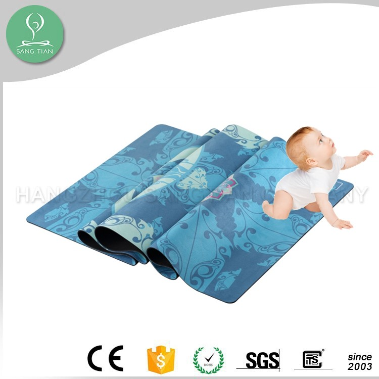 Eco friendly wholesale natural rubber yoga mats with carrying strap kids yoga mat manufacturer
