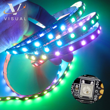 5v 30leds 60Leds 144Leds addressable RGB LED Strip ws2812,pixel led light strip