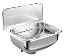 stainless steel wall mount hospital hand washing sink