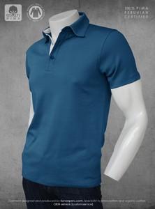 100% Organic eco friendly Peru pima cotton 100% certified polo shirt