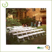 10 Stacking Chairs Easy Storage outdoor plastic used wedding white folding chairs