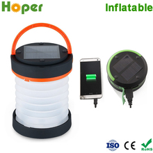 Newest Foldables solar lantern led camping with mobile phone charger